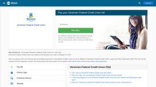 Ukrainian Federal Credit Union: Login, Bill Pay, Customer Service and ...