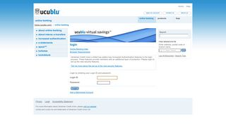 Ukrainian Credit Union Limited - Online Banking