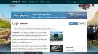 Login server | RuneScape Wiki | FANDOM powered by Wikia