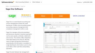 Sage One Software - 2019 Reviews, Pricing & Demo