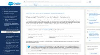 Customize Your Community's Login Experience - Salesforce Help