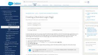 Creating a Branded Login Page - Salesforce Help