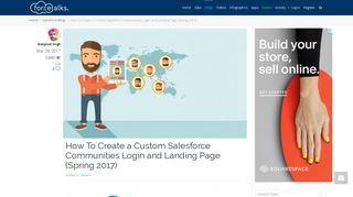 Salesforce | How To Create a Custom Salesforce Communities Login ...