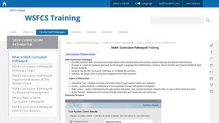 SAS® Curriculum Pathways - Winston-Salem/Forsyth County Schools