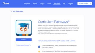 Curriculum Pathways® - Clever application gallery   Clever