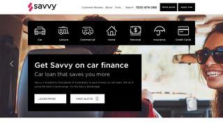 Savvy - Low Interest Car Loans, Finance & Insurance Australia