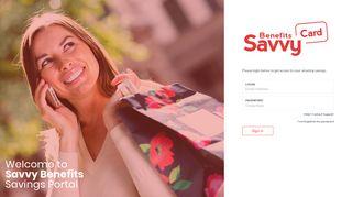 Savvy - Login - Savvy Benefits Card