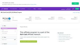 SBI Credit Card [CPL] IN Affiliate Program | admitad