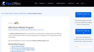 SBI-Cloud Affiliate Program | FlexOffers.com Affiliate Programs