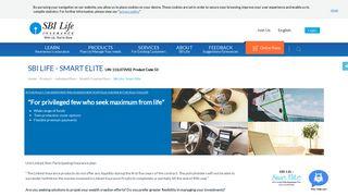 SBI Life - Smart Elite   High Income Individual Insurance Plan