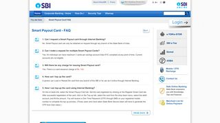 Smart Pay-out Card - State Bank of India - Personal Banking