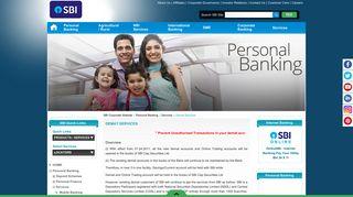 Demat Services - SBI Corporate Website