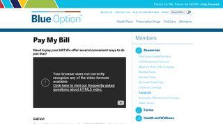 Pay My Bill | BlueOption SC
