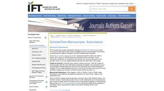 ScholarOne Manuscripts- Submission - IFT.org
