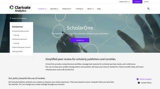 ScholarOne - Clarivate