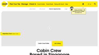Cabin Crew Profile - Scoot