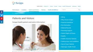 Patient & Visitor Information - Scripps Health - San Diego