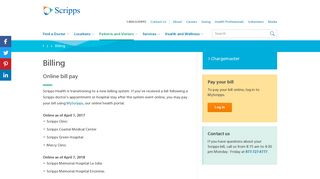 Online Bill Pay and Billing Questions - Scripps Health