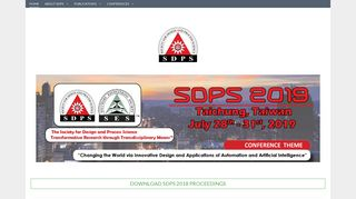 SDPS Homepage