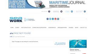 Seawork International   Exhibitor Information