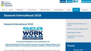 Seawork International 2018 - Society of Maritime Industries