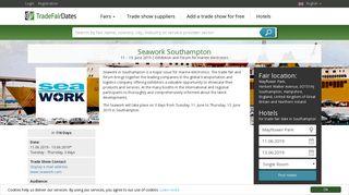 Seawork Southampton 2019 - TradeFairDates