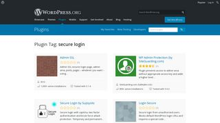 secure login   WordPress.org