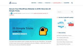 Secure Your WordPress Website in 2019: 23 Simple Tricks - CodeinWP