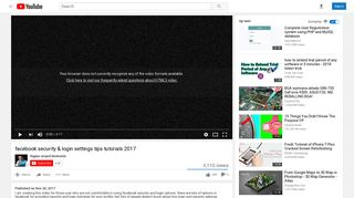 facebook security & login settings tips tutorials 2017 - YouTube