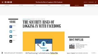 The Security Risks of Login With Facebook   WIRED