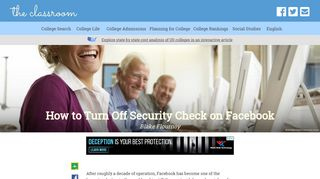 How to Turn Off Security Check on Facebook   The Classroom