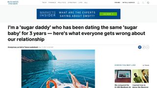 Sugar daddy explains why he dates sugar babies - Business Insider