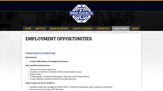 Employment opportunities | Service Electric Company
