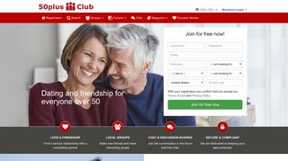 Senior Dating for Singles over 50 at 50plus-Club.com