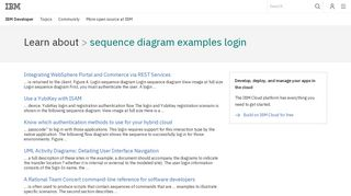 IBM Developer : sequence diagram examples login