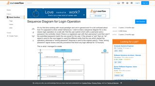 Sequence Diagram for Login Operation - Stack Overflow