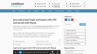 java web project login and logout with JSP and servlet with Mysql ...