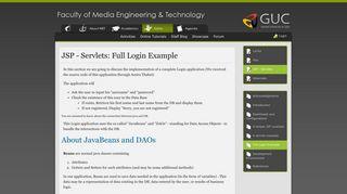 JSP - Servlets: Full Login Example