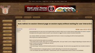 Auto redirect to session timeout page on session expiry without ...