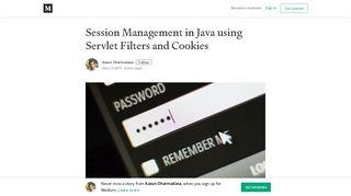 Session Management in Java using Servlet Filters and Cookies