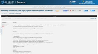 Need help in redirecting url to login page on Session Expiration ...