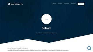 Setcom - Post Affiliate Pro