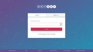 Log in - select your school - GetSet