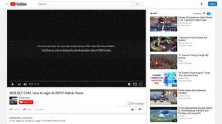 WEB-SET.COM: How to login to ISPCP Admin Panel - YouTube