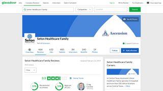 Seton Healthcare Family Reviews | Glassdoor