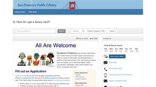 How do I get a library card? - FAQ - SFPL - FAQ