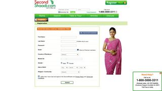 Second Shaadi - Register for FREE
