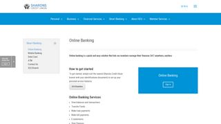 Online Banking - Sharons Credit Union