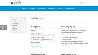Mobile Banking - Sharons Credit Union