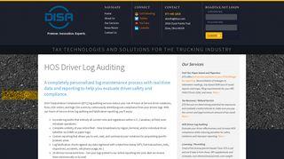 HOS Driver Log Auditing - OTS - Premier. Innovative. Experts.